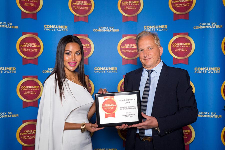 La clinique de greffe de cheveux Bédard a été élue choix du consommateur 2018